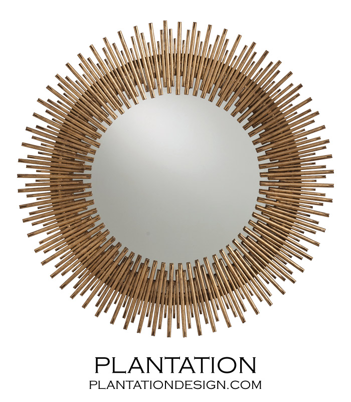 Round Wall Mirrors kentwood round wall mirror | gold | plantation