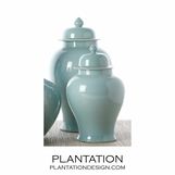Aqua Blue Temple Jars Set