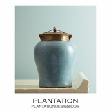 Lennox Faux Shagreen Jar | Short