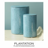 Lennox Faux Shagreen Jars Set