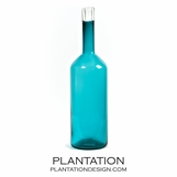 Capri Tall Glass Jar | Teal