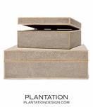 "Zaria ""Shagreen"" Boxes 