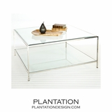 Ithaca Coffee Table | Nickel