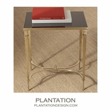 Parliament Rectangular Table | Brass & Black Granite