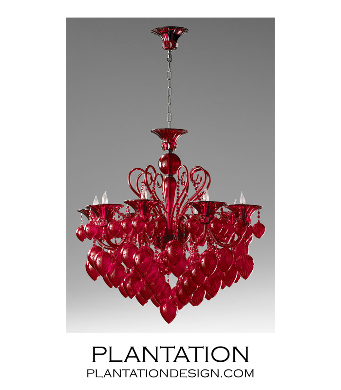 Ryan glass chandelier red plantation ryan glass chandelier red mozeypictures Image collections