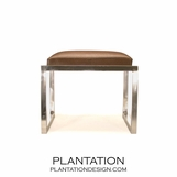 Banquette Chrome Stool