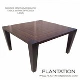 Square Macassar Dining Table