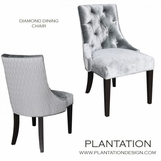 Sia Dining Chair, Diamond-Tufted