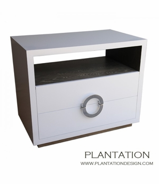 Simon Side Table | Recessed Base