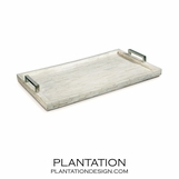 Ivoire Bone Tray | Nickel
