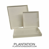 Lacquered Trays | White