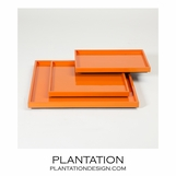 Ming Shallow Trays | Orange