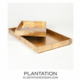 Yen Leafed Trays | Gold
