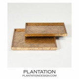 Yen Leafed Shallow Trays | Gold