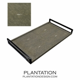 Cebu Shagreen Tray | Olive
