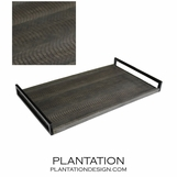 Cebu Snake Leather Tray | Dark Grey