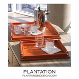 Moorea Leather Trays | Orange