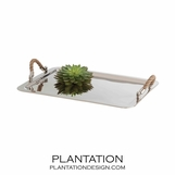 Bar Harbor Polished Nickel Tray