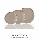 Dorothy Polished Nickel Trays | Round