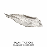 Foliage Silver Leaf Tray