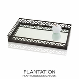 Canaan Rectangular Tray | Bronze