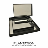 Lacquered & Mirror Trays | Black