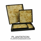 Lacquered Trays | Mappa Burl
