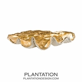 Clam Shell Bowls | Gold Interior