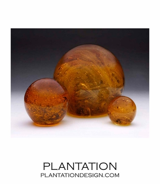Galaxy Glass Paperweights | Amber