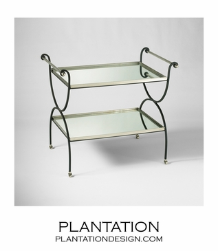 Scrolled Iron Bar Cart