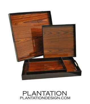 Lacquered Trays | Rosewood