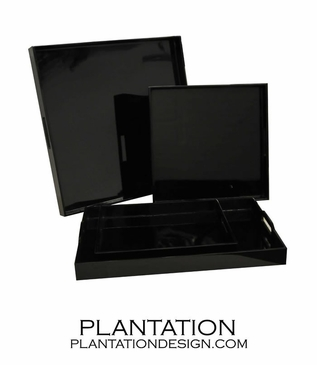Lacquered Trays | Black