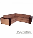 Arden Sectional w/Wood Trim