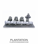 Pewter Pen Holder | Four Monkeys