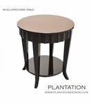Seville Scalloped Side Table