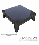 Scalloped Coffee Table | Square