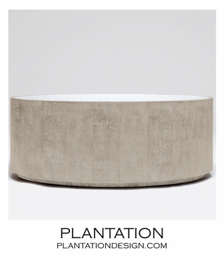 """Hilson """"Shagreen"""" Oval Coffee Table 