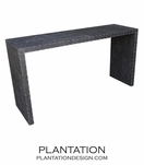 "Waterfall Fabric Console | ""Gator"""