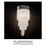 Glacier Selenite Sconce | Narrow