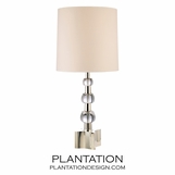 Clancy Crystal & Nickel Lamp