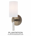 Torino Single Sconce | Brushed Bronze