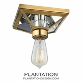 Davio Flush Mount | Antiqued Brass