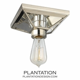 Davio Flush Mount | Polished Nickel