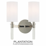 Torino Double Sconce | Polished Nickel