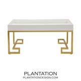 Garrett Coffee Table | White