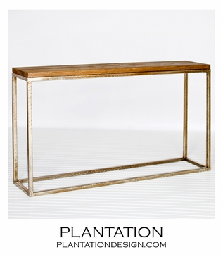 Stave Console Table | Warm Silver