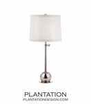 Stephen Table Lamp | Polished Nickel