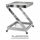 Zig Bar Cart | Nickel