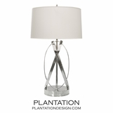 Brooklyn Table Lamp | Nickel
