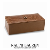 Gaspard Leather Box | Saddle